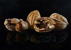 All Shook Up, by Mickie Acierno. Still Life. Nuts. www.mickie.ca