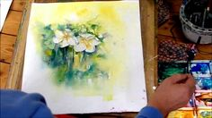 How to Paint White Flowers in Watercolour by Sheila Gill - Part 2