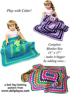 With Love from Gran Doll Blanket ~ free pattern ᛡ