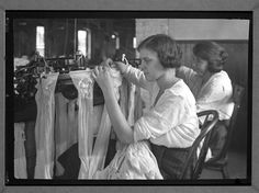 Young Girls in Knitting Mill, ca. 1903 - 1938.