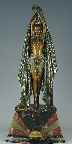 Art Deco bronze figure Antinea by Demetre Chiparus