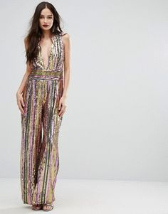Non-Traditional Western Style Sparkly Sequin Jumpsuit Fashion – Designers Outfits Collection Prom Jumpsuit, Disco Jumpsuit, Sparkly Jumpsuit, Sequin Jumpsuit, Sequin Gown, High Fashion Outfits, Fashion Week, Runway Fashion, Fashion Online