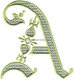Alphabet Machine Embroidery Pattern