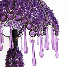 hand beaded birthday gift bedside lamp h Magenta, Shades Of Purple, Deep Purple, Pink Purple, Purple Swag, Purple Bed, Purple Table, Purple Home, Pink Lila