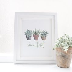 Add chic style to your gallery wall with this succulent print!
