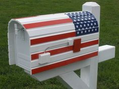 Rounded-American-flag-mailbox-cover  Displays of patriotism in all forms