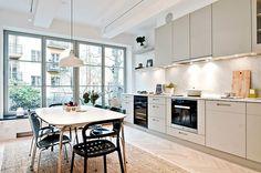 Minimalist kitchen.