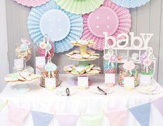 Ideia de decoração de chá de bebê menina