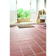 Wickes Red Textured Quarry Ceramic Floor Tile 150x150mm