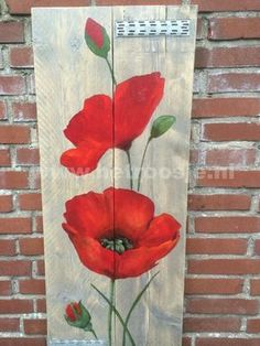 Resultado de imagen para pallet art flowers