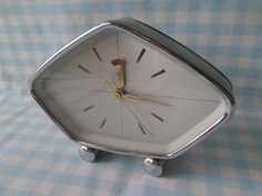 Mid Century 50's Metal Wind Up Alarm Clock.