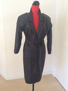 Beautiful Spy Vintage Leather Dress by Peaceloveheart on Etsy, $200.00