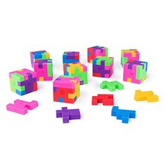 Mini Colorful Geometric Shape Puzzle Pencil Erasers for School Supplies, Party Favors, Games & Activities (12 Pack) by Super Z Outlet - http://partysuppliesanddecorations.com/mini-colorful-geometric-shape-puzzle-pencil-erasers-for-school-supplies-party-favors-games-activities-12-pack-by-super-z-outlet.html