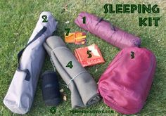 Survival Sleeping Kit - Items to consider when bugging out, plus frugal substitutions.