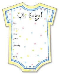 Image result for baby onesie template for baby shower invitations ...
