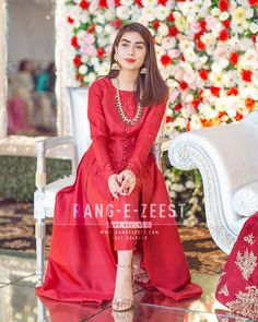Pakistani Formal Dresses, Pakistani Wedding Outfits, Bridal Outfits, Baby Girl Party Dresses, Party Wear Dresses, Formal Casual, Formal Wear, Punjabi Suits Designer Boutique, Beautiful Red Dresses