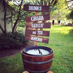 Drinks, Grub, Dancin', and more fun- Events by L sign |Miller's 40th Birthday Farm Bash| Events by L | Chicagoland's Premier Wedding and Event Planning Experts @EventsbyL2