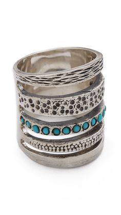 Single Cage #Ring with Turquoise