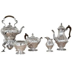 Sterling Silver Tea Service   From a unique collection of vintage coffee and tea sets at https://www.1stdibs.com/jewelry/silver-flatware-silverplate/coffee-tea-sets/