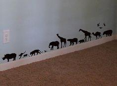 Safari Animals Wall Decal Africa Vinyl Wall Art by WallStickums, $22.00