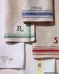 tea-towel stripe ideas for Tea Cup valance