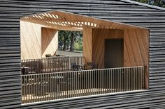 Tasting Room at Sokol Blosser Winery | Allied Works Architecture #AlliedWorksArchitecture #Concrete #Dayton #GreenRoof #JeremyBitterman #LeonardA.Rydell #material #SokolBlosser #SokolBlosserLn #SokolBlosserWinery #Sustainability #sustainable #SustainableBuilding #UnitedStates #Wood