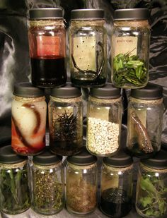 Witchy Potion Ingredient Bottles and many other ideas!