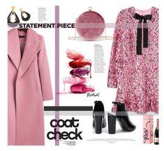 """""""Romwe.Statement Coats."""" by imurzilkina ❤ liked on Polyvore featuring H&M, romwe and statementcoat"""