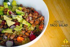 Recipe: healthy taco salad (vegetarian and vegan)