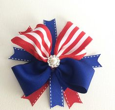 4th of July Hair Bows / Hair Bows for Girls / Hair Bows / Patriotic Hair Bows / Red, White, Blue Hair Bows / Big Hair Bows / July Hair Bows on Etsy, $6.49