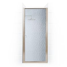 Coastal Shower Doors Paragon Series 29 in. x 65 in. Framed Continuous Hinged Shower Door in Brushed Nickel with Aquatex Glass