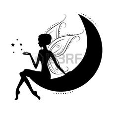 Belle silhouette de fée Banque d'images                                                                                                                                                     Más