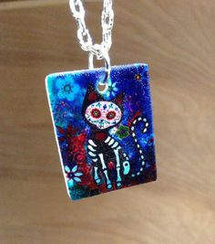 Hey, I found this really awesome Etsy listing at https://www.etsy.com/listing/185403151/day-of-the-dead-cat-sugar-skull-cat