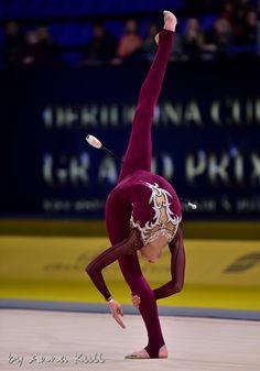 Olena DIACHENKO (Ukraine) ~ Clubs @ Deriugina Cup - Grand Prix @ Kiev 17/03/'17 Photographer Anna Kull.