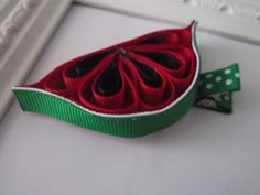 Watermelon Ribbon Sculpture Hair Clip.