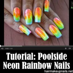 No water marble rainbow fire nail art tutorial nail art rainbow water marble nails tutorial water marble nail art marbles nail art tutorials rainbows neon diy beauty beauty tips prinsesfo Image collections