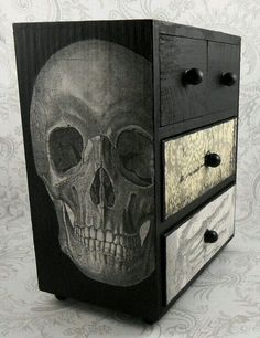 Cajonera skull➕More Pins Like This At FOSTERGINGER @ Pinterest ➕