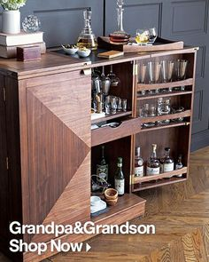 Maxine bar cart / Will can make this | Crate and Barrel