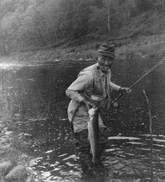 Bing Crosby fishing