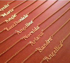 Cadenitas Personalizadas Con Nombres Bañada En Oro 18k - Bs. 4.000,00 en MercadoLibre
