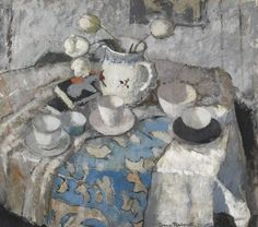 Anne Redpath - Grey and Pink Still Life