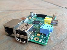 The Raspberry Pi is a series of credit card-sized single-board computers developed in the United Kingdom by the Raspberry Pi Foundation to promote the teaching of basic computer science in schools and developing countries