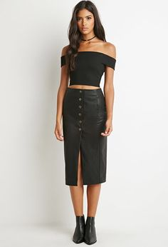 Quilted Faux Leather Skirt | Forever 21 - 2000138492 | ADD IT TO ...