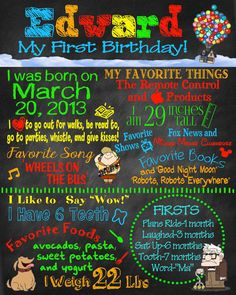 Birthday Poster Disney / Pixar Up by sweetharvestonline on Etsy