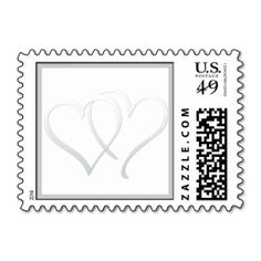 Intertwined Hearts Silver Wedding Postage. This is customizable to put a personal touch on your mail. Add your photos or text to design your own stamp that can be sent through standard U.S. Mail. Just click the image to try it out!