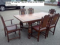 Antique Shabby Chic  Vintage Dining Room Table on Etsy, $595.00