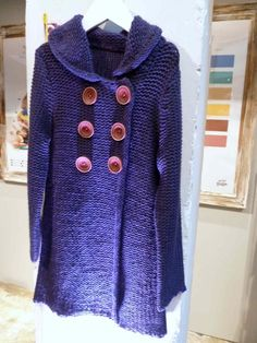Supercool girls knitted coat for next winter from Mini Boden