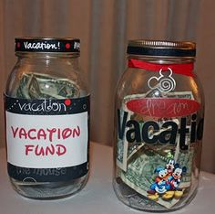 Disney Vacation Saving Jars. This would be a motivational tool for us as well as fun for my daughter and to try to teach her about saving (as much as you can with a toddler!) #Tangled2012 #Disney #OrlandoFL