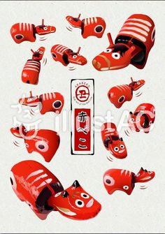 #赤べこ #牛 #丑 New Year Art, Film Photography, Tigger, Disney Characters, Fictional Characters, Snoopy, Clay, Japanese, Illustration