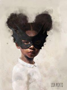 Vokter 1 | Lisa Aisato - nettbutikk Artist Inspiration, Art Inspo, Illustration, Instagram Art, Female Art, Art, Face Drawing, Inspirational Artwork, Black Women Art